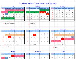 Draft Kalender Pendidikan tahun Pelajaran 2013/2014